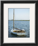 Moored in the Bay Print by Jeff Kauck
