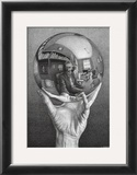 Hands with Sphere Posters by M. C. Escher