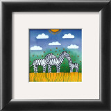 Zebras Poster by L. Edwards