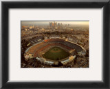 Dodger Stadium - LA Skyline at Dusk Prints by Mike Smith