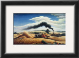 Threshing Wheat Print by Thomas Hart Benton