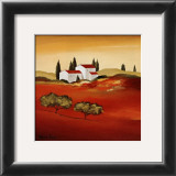 Tuscan Red IV Print by Hans Paus