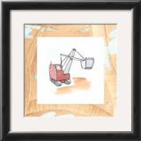 Charlie's Steamshovel Poster by Charles Swinford