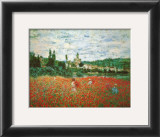 Field of Poppies at Giverny Posters by Claude Monet