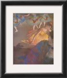 Ballerina and Lady with Fan Print by Edgar Degas