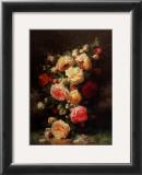 Bouquet de Roses Print by Jean Baptiste Claude Robie
