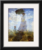 Madame Monet and Her Son Prints by Claude Monet