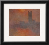 London Houses of Parliament Prints by Claude Monet
