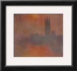 London Houses of Parliament Prints by Claude Monet