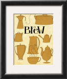 Brew Pots in Yellow Art Print by Dan Dipaolo