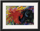 Fighting Forms Print by Franz Marc