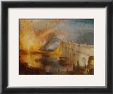 Burning of the Houses of Parliament Print by J. M. W. Turner