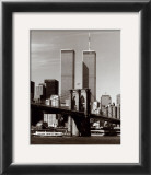 World Trade Center and Brooklyn Bridge Posters by Walter Gritsik