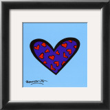 Blue About You Poster by Romero Britto