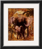 Jungle Elephants Prints by Jonnie Chardonn