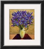 Blue Iris Bouquet Poster by Shelly Bartek