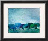 Cows I Print by Gisela Funke
