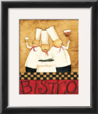 Three Chefs Wine Bistro I Posters by Dan Dipaolo