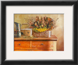 Flowers on Gramma's Sideboard III Prints by M. De Flaviis
