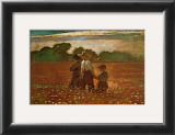 In the Mowing Print by Winslow Homer