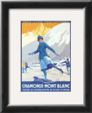 Chamonix, Mont Blanc Prints by Roger Soubie