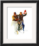 Cheering the Champs Prints by Norman Rockwell
