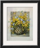 Basket in Yellow Art by Katharina Schottler