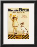 Biscuits Brun Prints by George Redon