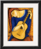 Vera A la Guitare Prints by Guy Mourand
