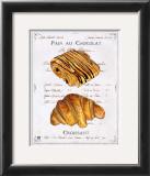 Pain au Chocolat et Croissant Posters by Ginny Joyner