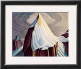 Mount Lefroy Print by Lawren S. Harris