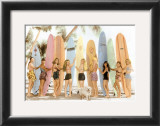 Surfer Girls Prints by  Himani