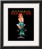 Mermaid Martini Prints by Ralph Burch