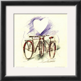 Bicycle Romance Poster by Alfred Gockel