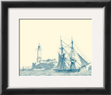 Sailing Ships in Blue I Posters by Jean Jerome Baugean