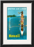 United Airlines, Outrigger Posters by Stan Galli