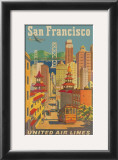 United Airlines: San Francisco, c.1950 Prints by Stan Galli