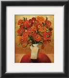 Red Blooms Prints by Shelly Bartek