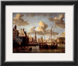 The Port of Amsterdam Poster by Abraham Storck