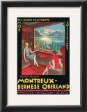 Montreux - Bernese Oberland Railway, Switzerland, c.1925 Poster