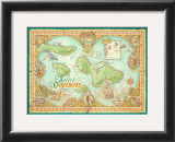 Maui Discovered, Map of Maui Prints by Dave Stevenson