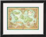 Maui Discovered, Map of Maui Prints by Dave Stevenson