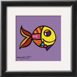 Swimmingly Purple Prints by Romero Britto