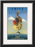 Chile by SAS, Scandinavian Airline System, c.1951 Posters by  De Ambrogio