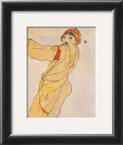 Standing Woman with Yellow Dress Prints by Egon Schiele