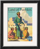 Santa Fe Railroad: Land of Pueblos, c.1950's Posters