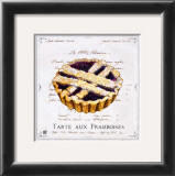 Tarte aux Framboises Art by Ginny Joyner