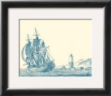 Sailing Ships in Blue III Prints by Jean Jerome Baugean