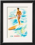 Matson Line Surfer Print by Frank MacIntosh