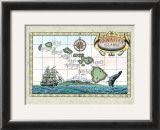 Map of the Hawaiian Islands Prints by Steve Strickland